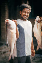Kamal with some of the biggest fish of the day