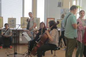 A jam session at the school