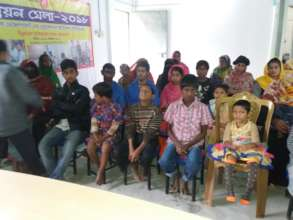 students of Raihanpur Disable school