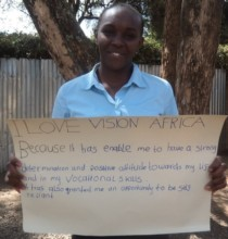 Caroline has her reasons to love Vision Africa
