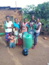 Faith and her family in Kitui