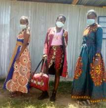 Students showcasing the clothes they've made