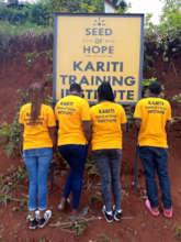 New uniform t-shirts at Seed of Hope Kariti