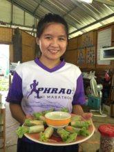 Jiu with cooking group wraps