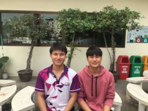 Somphong and Somkit at Metro Vo-Tech College