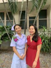Tanqua in her Nurse's Cap with Nit