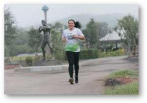 Ann at local Marathon