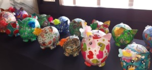 Beautiful Piggy Banks by the Women of Tierra Bomba