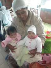 Constantina with twins