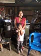 Esmeralda with her mom
