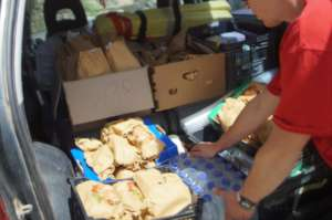 Food distribution to partners on Lesvos