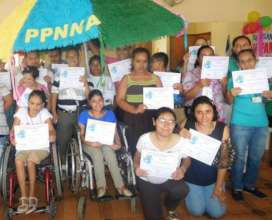 Girls with certificates for their participation
