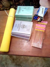 Some of the school supplies