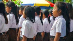 Bina Pusaka children singing national anthem 2