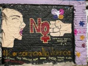 Violence mural