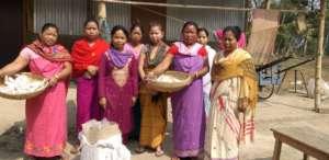 Mushroom distribution among the women growers