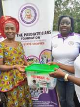 Presentation of First Aid boxes to schools