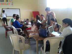 Teachers planning classes