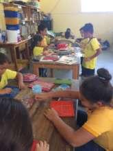 Students rotate between various activities