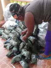 Preparing the dignity packs