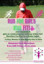 Our poster for the first 'Run For Girls' marathon