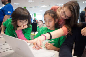 Teaching girls at a young age to code