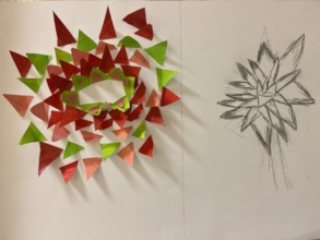 A sunflower inspired by Matisse