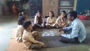 Vasu learning at school.