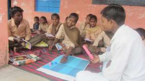 Rame Learning in Class with Educate Girls' GKP kit