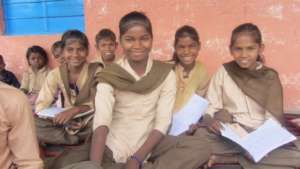 Rama with her Friends in School