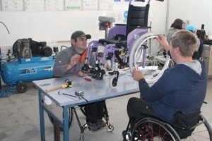 Wheelchair adaptations at Motivation Romania