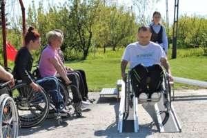 Wheelchair skills training at Motivation
