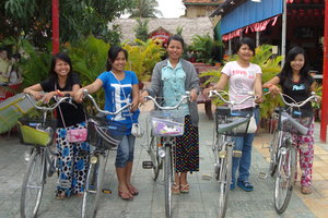 NFE students with their new bikes
