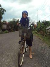 Nita rides her bike to school!