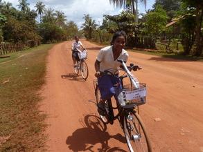 Biking the long road to school in rural Cambodia