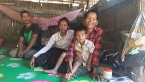 Sreyhang's family at home