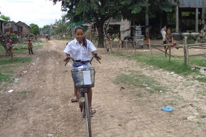 The first bike in Thida's family