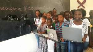 Kids donated laptops from labdoo