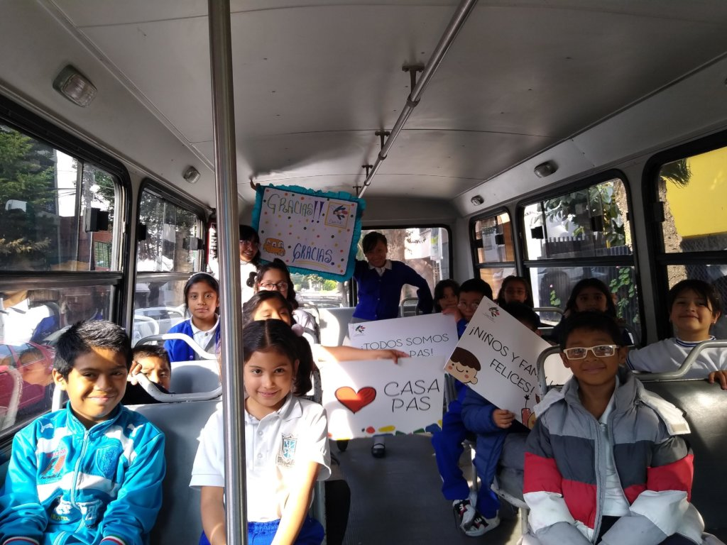 Bus to school! The children of Casa PAS need you
