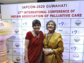 Prof. Julia  & Dr. Mhoira at IAPCON 20