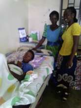 One of our volunteers supporting a patient