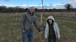 Pupil plants tree for his school during lockdown