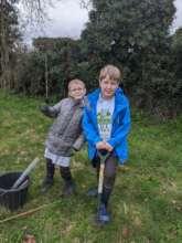 Planting trees!