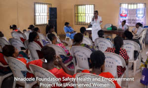 Pregnancy health training in Olokoro, Abia State.