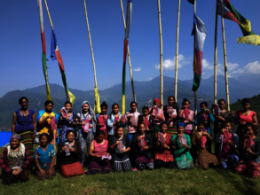 Group photo after the Palchowk pad-making training