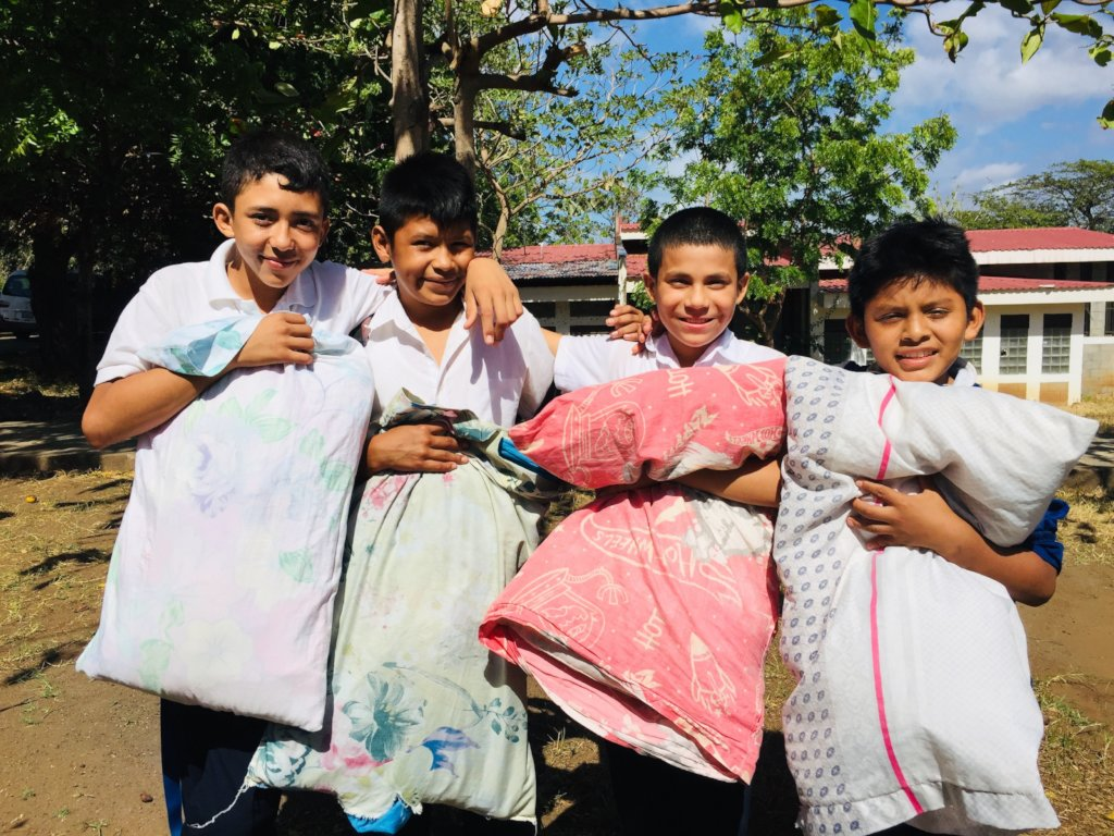 Bed and mattress for 87 orphans in Nandaime
