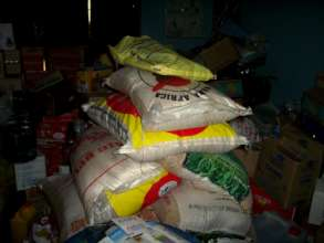 Food items donated at the center