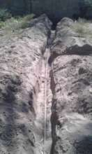 New trenches and piping