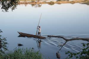 Fisherman on Zambezi Oxbow