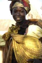 Mother & baby from a fishing village near Mwandi